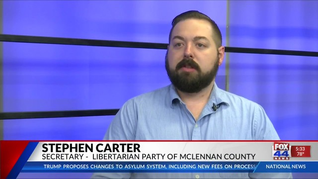 Stephen Carter, Secretary for the Libertarian Party of McLennan County